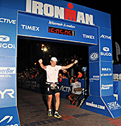 Brad Nelson Finishing The IronMan
